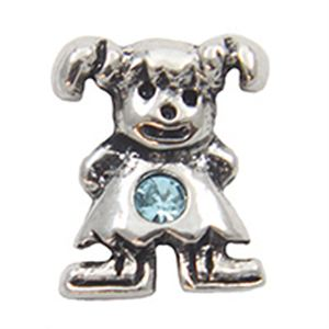 Picture of March Girl Birthstone Charm